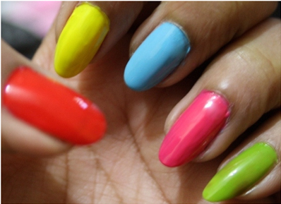 Multi Color Nail Art Designs