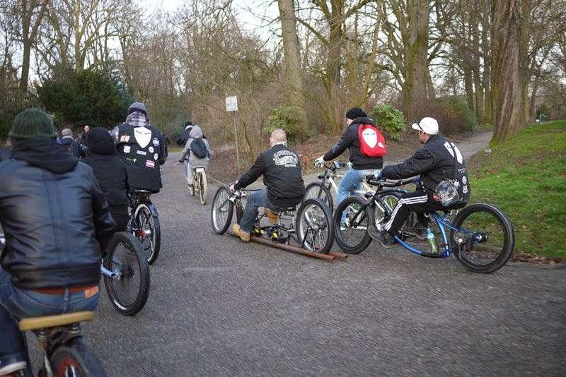 Ghent New year cruise - Chopaderos beachcruiser Kustom Belgium beachcruiser bicycle vélo custom chopper