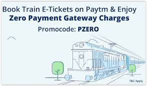 Paytm E-Ticket: 100% Cashback on Booking of Train Ticket