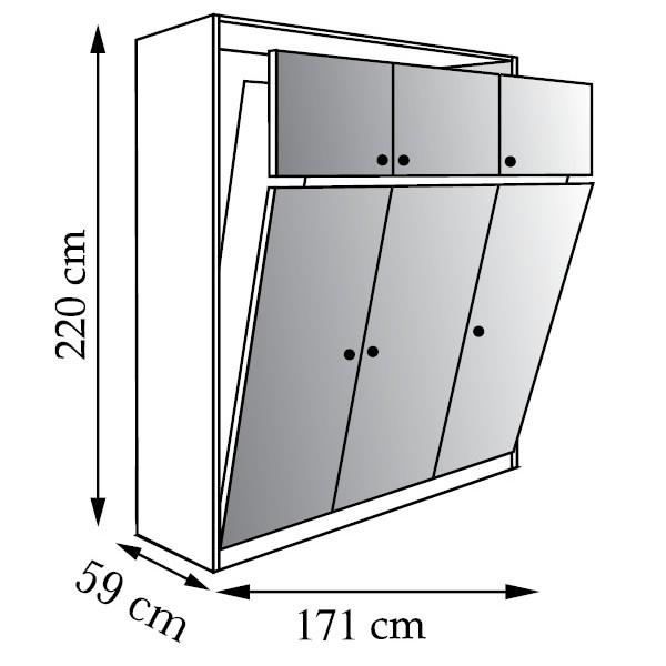 lit relevable plan. Black Bedroom Furniture Sets. Home Design Ideas