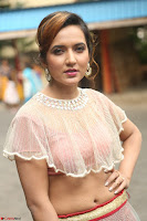 Aafia Bhardwaj looks stunning in transparent pink small choli chunni ghargra at launch of India Silk Expo ~ Exclusive Celebrity Galleries 144.JPG