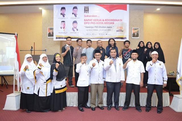 Gelar Rapat Kerja, PKS Kota Medan Targetkan Juara Pemilu 2019