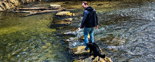 Billings Creek Trail in Kickapoo Valley Preserve