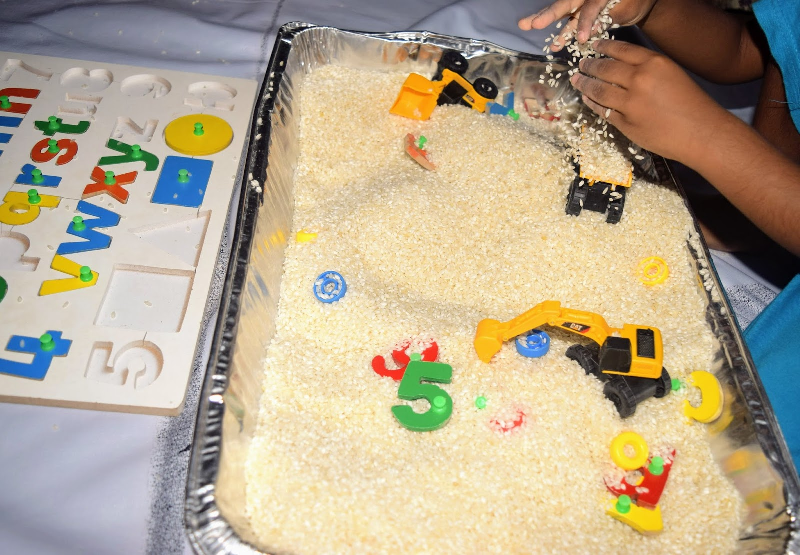 Sindhu\'s cocoon: Sensory Play with Alphabets