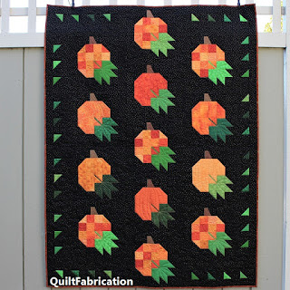 PUMPKIN QUILT-FALL QUILT-ORANGE-QUILT PATTERN