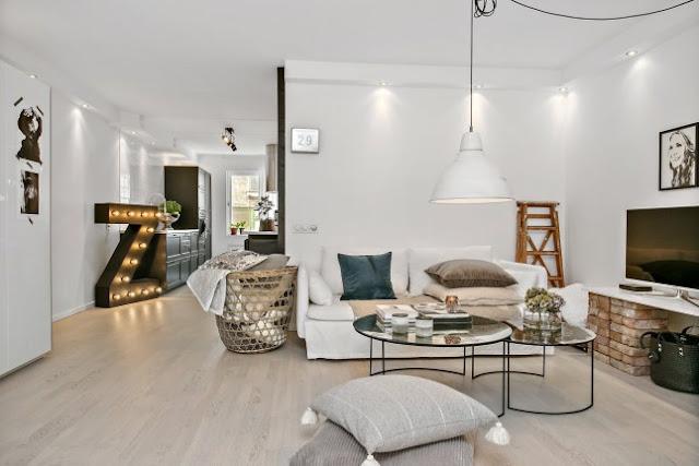 Detalii simpatice în amenajarea unui apartament de 59 m²