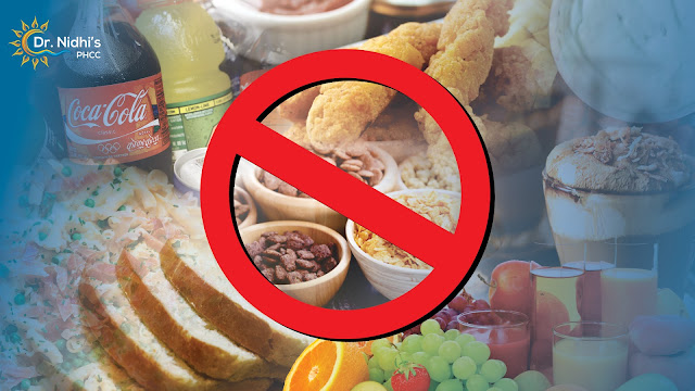 Things to avoid in diabetes