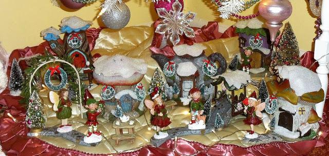 Sitting Room Christmas Fairy Village, Christmas Home Tour, 2016