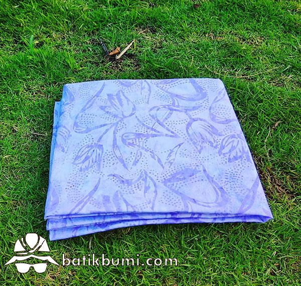 Batik Cap Smoke Motif Tulip Ungu