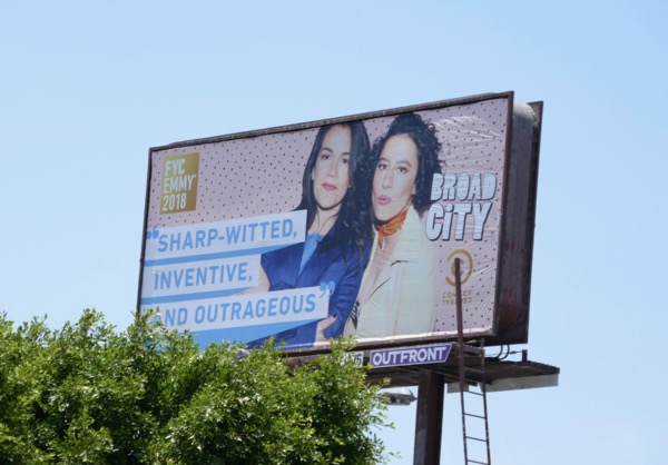 Broad City 2018 Emmy FYC billboard