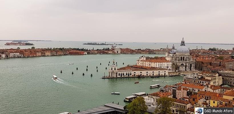 Veneza vista do alto do Campanário de São Marcos - O que fazer em Veneza