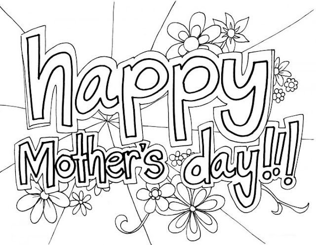 Mothers Day Pictures to Color