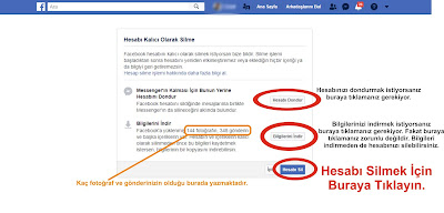 facebook kalıcı hesap silme