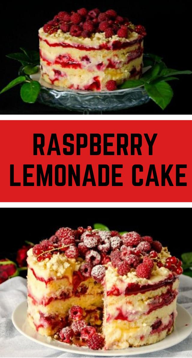 RASPBERRY LEMONADE CAKE #dessert #cake