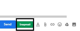 ارسال بريد جيمل gmail ب Snapmail