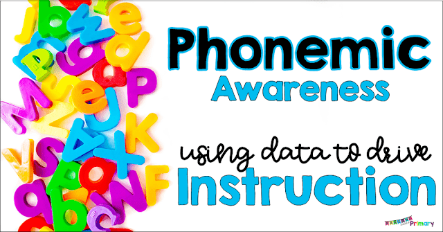 Learn how to use data to drive your phonemic awareness instruction.  First assess and then use a no prep resource to teach the identified skills.