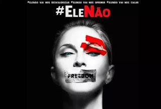 Madonna utiliza suas redes sociais e adere o movimento #EleNão