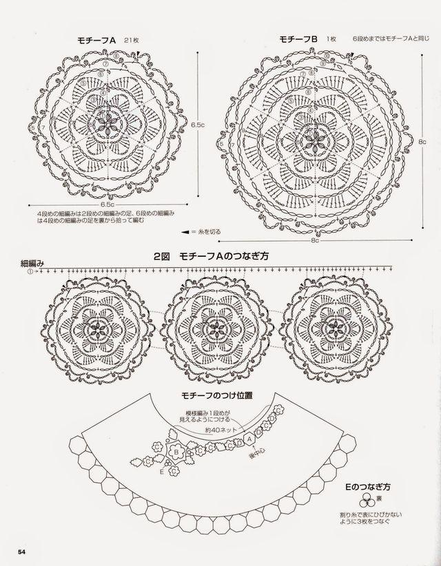 Ergahandmade Irish Crochet Poncho Diagrams