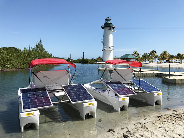 solar boat barvest cay
