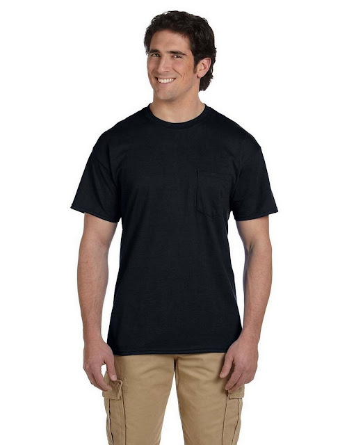 Gildan G830 DryBlend 50/50 Pocket T Shirt (12 Colors)