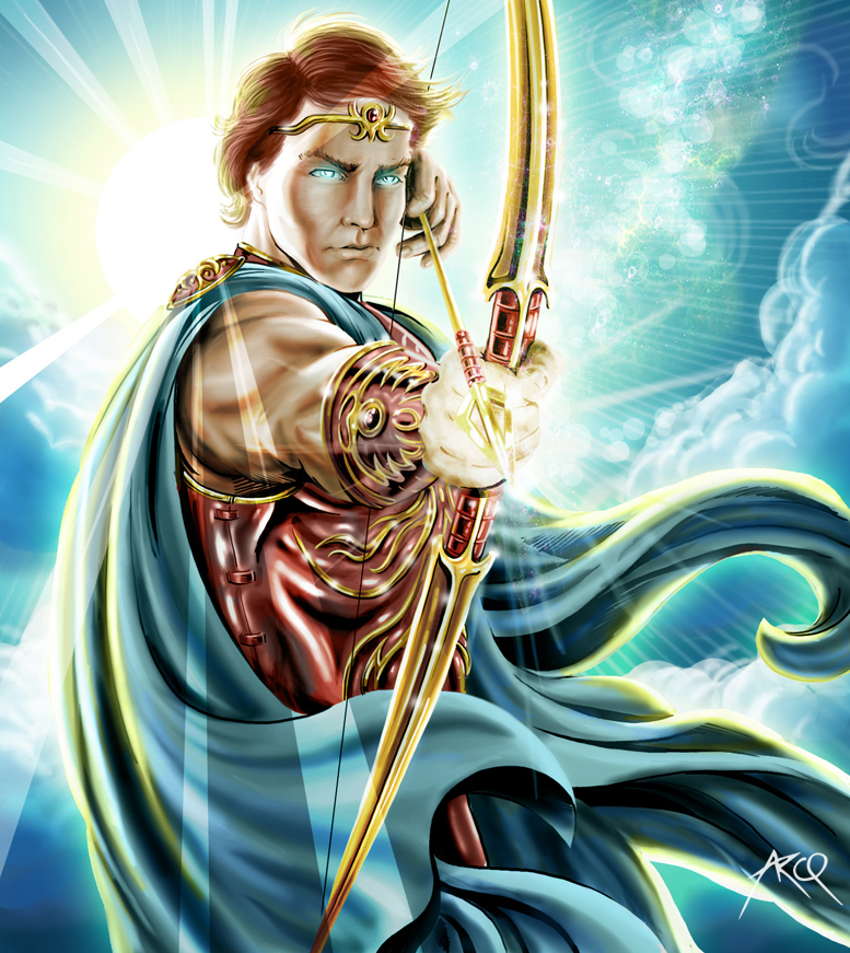 Apollo God of music poetry arts oracles archery herds and flocks diseases healing light sun knowledge and protection of young