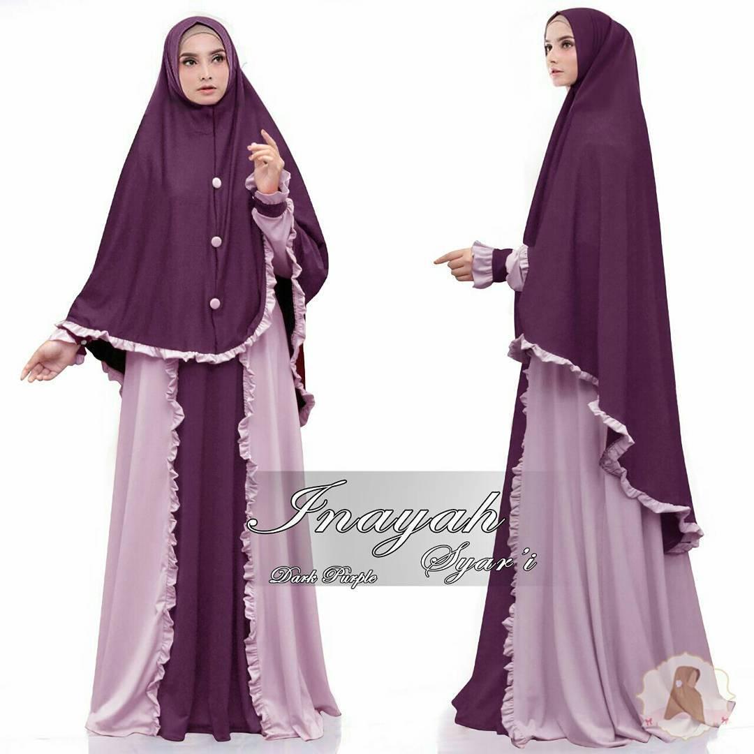 Baju Muslim Syari Inayah Gamis Syari Premium Quality