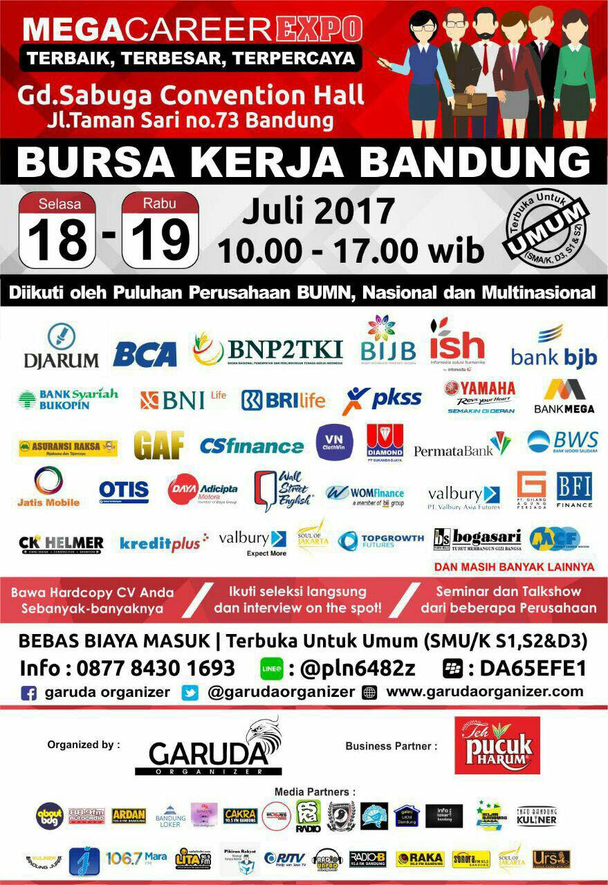 Mega Career Expo Gd.Sabuga Convention Hall 18 - 19 Juli 2017