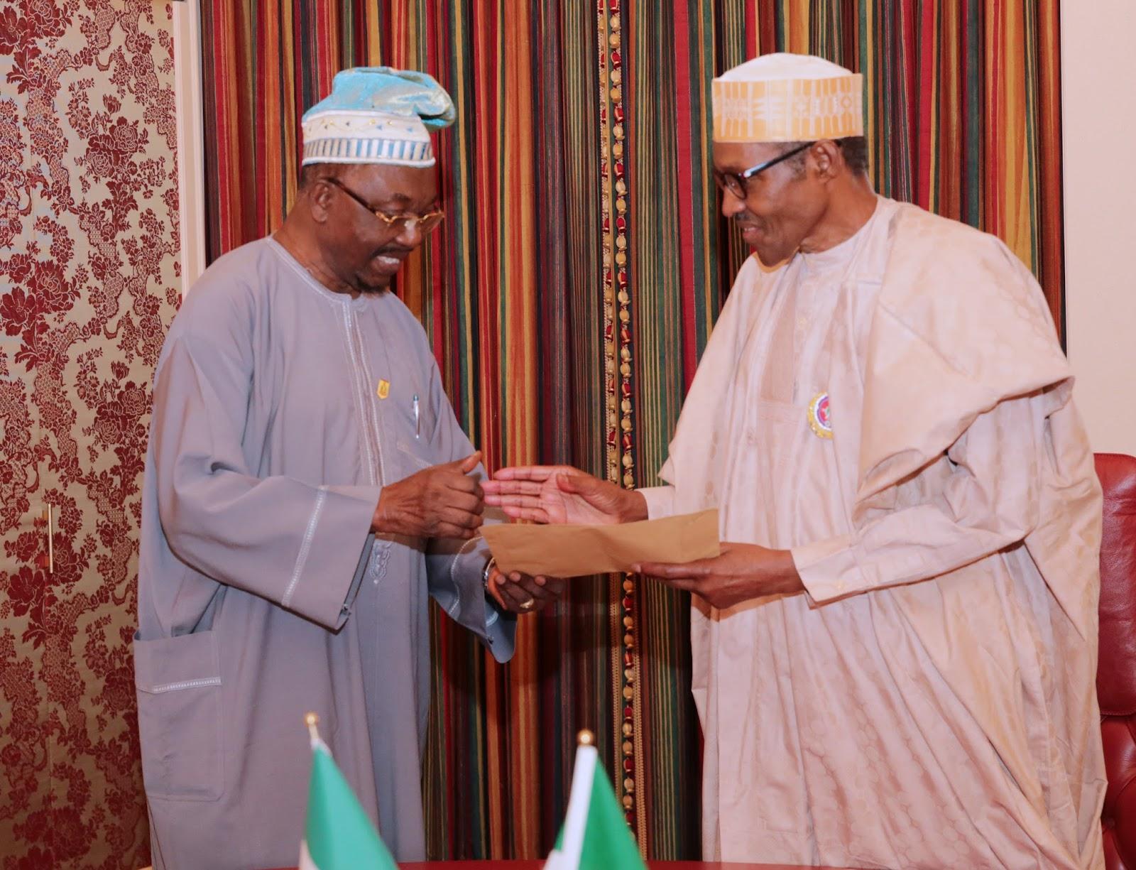 President Buhari with Senator Durojaiye after the