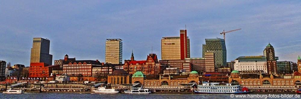 Hamburg Panorama Skyline Landungsbrücken