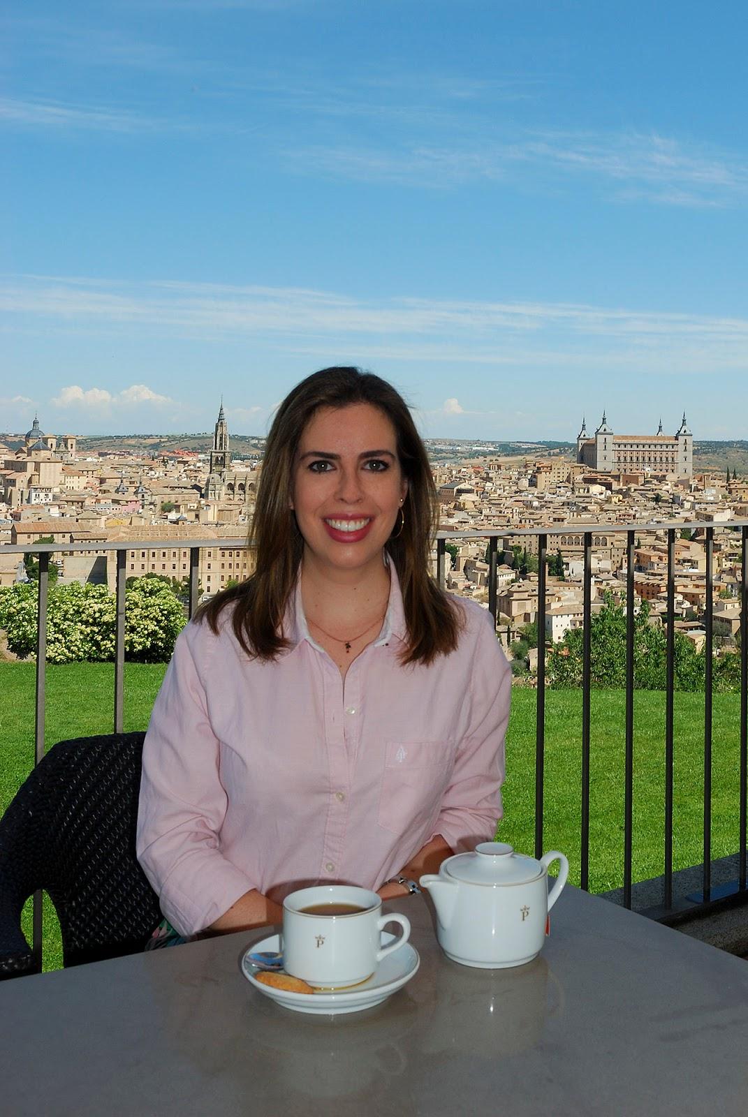 parador toledo spain cafeteria views vantage point travel outfit europe
