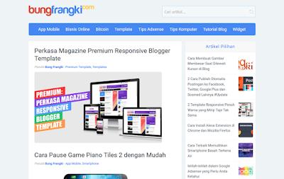 Tanpa Nama Template Blogger Responsive BungFrangki