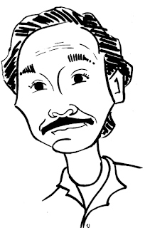 Kevin Kline caricature by Ian Davy Brown