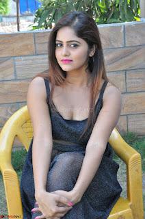 Pragya Nayan New Fresh Telugu Actress Stunning Transparent Black Deep neck Dress ~  Exclusive Galleries 080.jpg