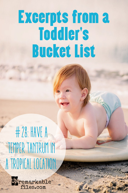 Enjoy a sneak peek into the things every toddler wants to do before it's too late.  {posted @ Unremarkable Files}