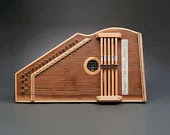 Hand carved wooden instruments music