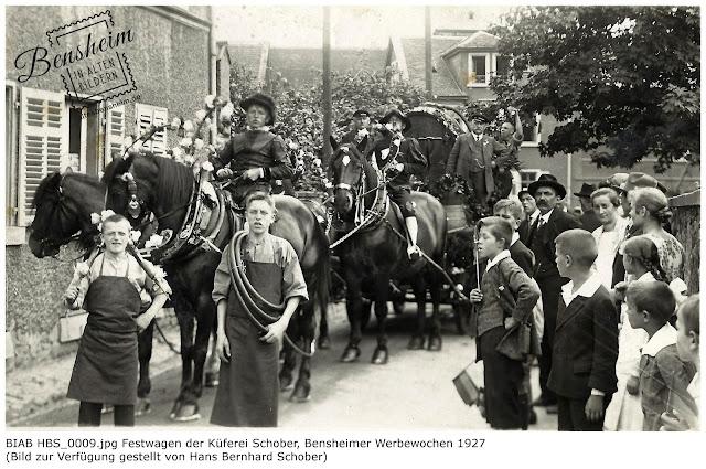 BIAB_HBS_0009.jpg Festwagen der Küferei Schober, Bensheimer Werbewochen 1927, Bilder zur Verfügung gestellt durch Hans Bernhard Schober