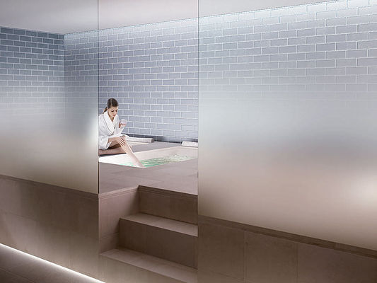 Gradient Glass Partitions for the Bathroom
