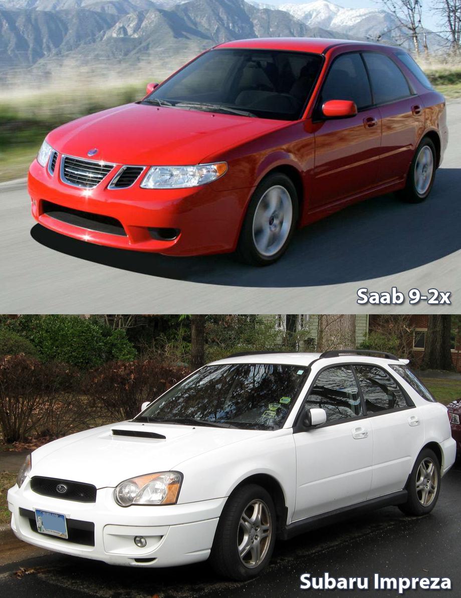 Znajdź Różnice Saab 9 2x Vs Subaru Impreza