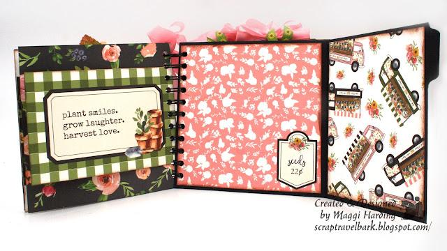 Spiral bound handmade Spring Market mini album