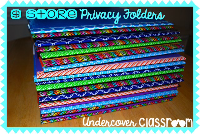 Save money by making privacy folders out of display boards from the dollar store. This step by step tutorial will show you how.