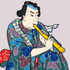 歌川国芳の「五尺染五郎」を模写
