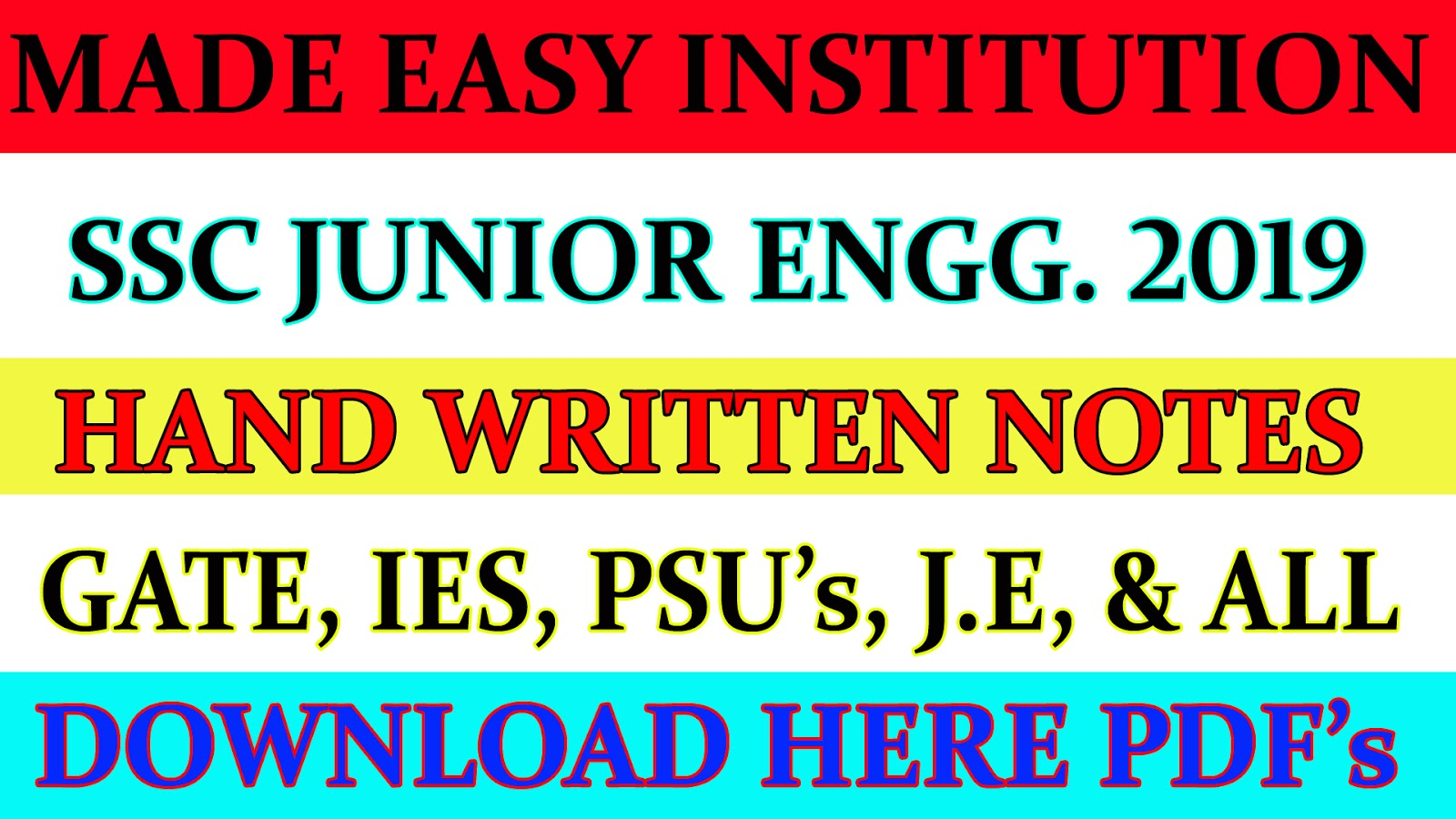 SSC JE 2019 | Mechanical Engg  Made Easy Coaching | Hand