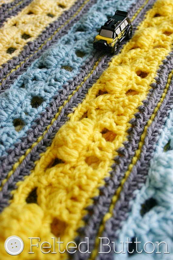 Coming Home Blanket by Felted Button --crochet pattern