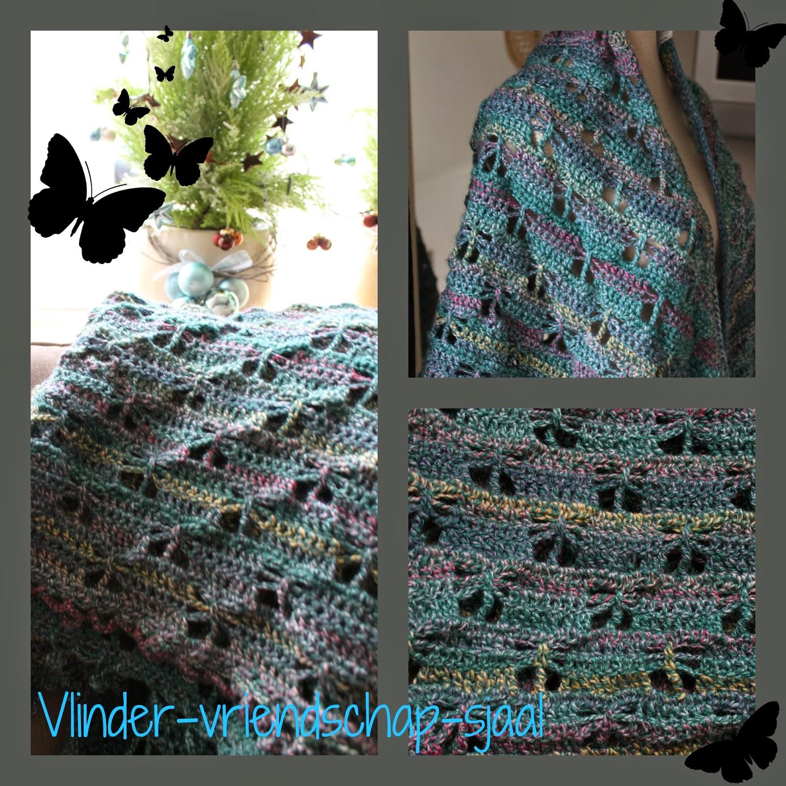 Uitzonderlijk Dinah Creatief: Vlinder-Vriendschap-Sjaal XR11