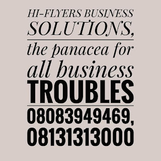 When you think BUSINESS, Think Hi-Flyers!