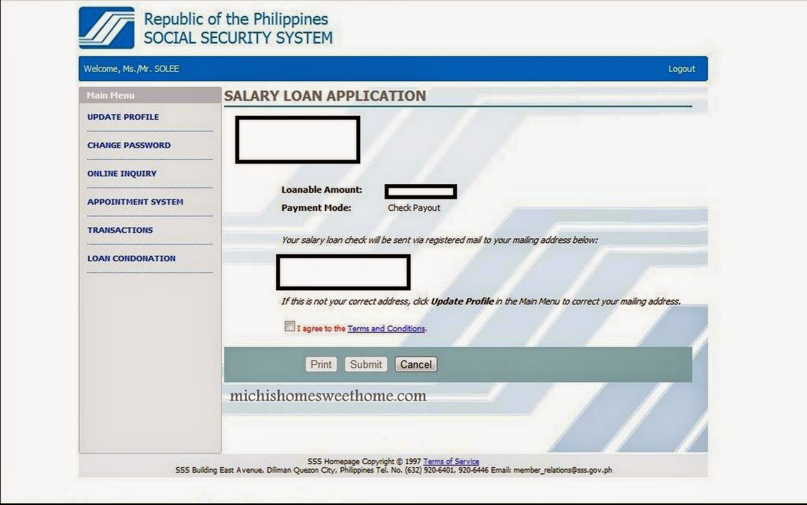 Michi Photostory: How to Apply for SSS Salary Loan via Online