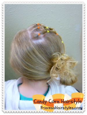 Candy Corn Fall Hairstyle Tutorial