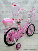 4 Sepeda Anak Nakita NL1602 Butterfly Sandaran 16 Inci