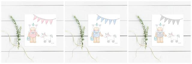 láminas infantiles bebés y niños, abecedarios para enmarcar -UNICORNIOS