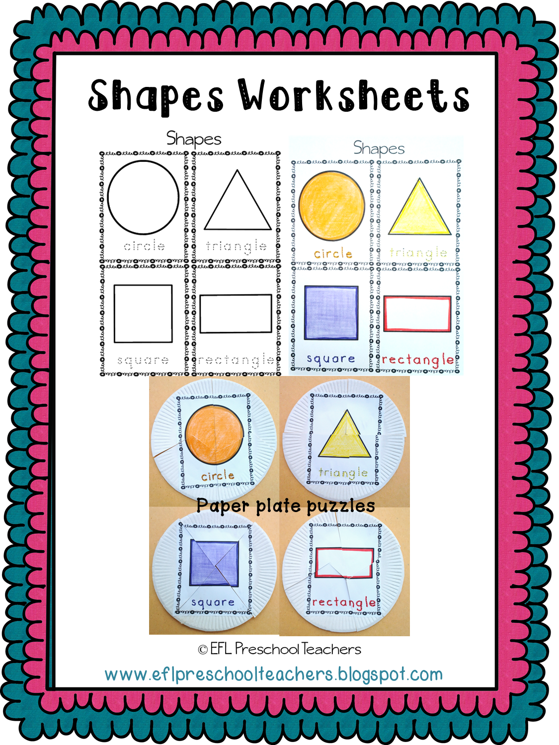 Esl Efl Preschool Teachers Shape Worksheets For Preschool Ell